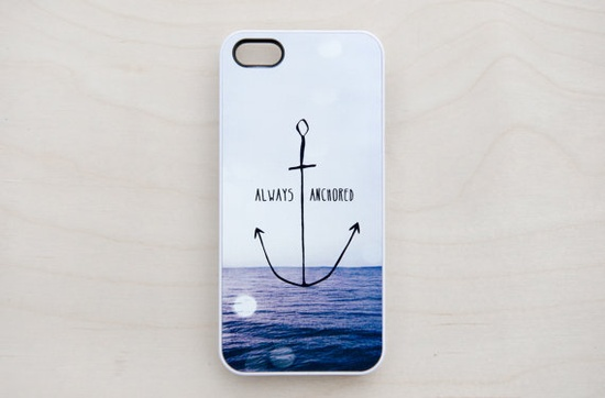 Nautical Anchor iPhone 5 4 4S Case iPhone 4 Case by afterimages, $17.99