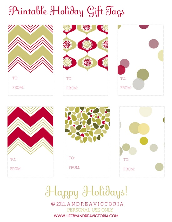 awesome free gift tags