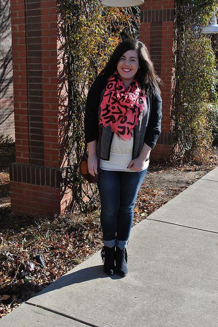 Graffiti scarf
