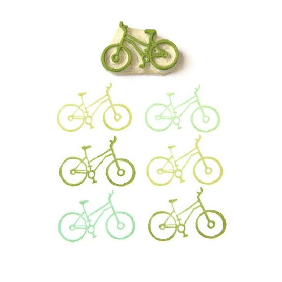 Cyclist's Bicycle stamps