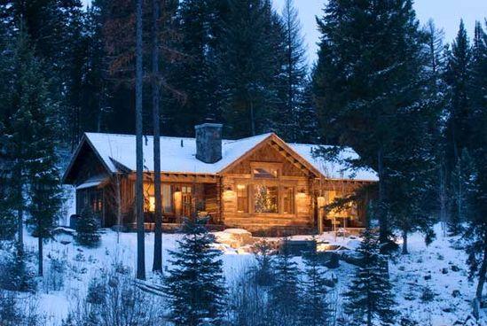 Log cabin lake house?