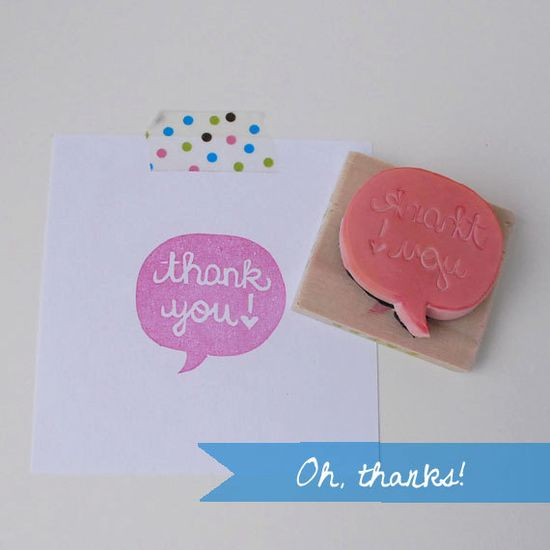"""""""thank you"""" stamp"""