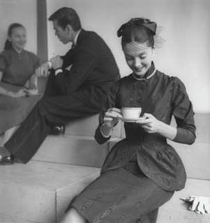 Looking positively lovely while sipping tea. #vintage #fashion #1950s