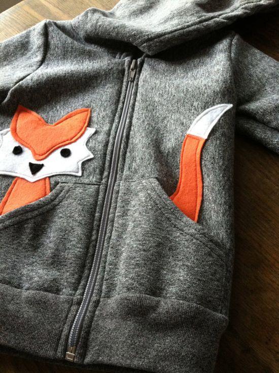 Inspiration :: Children's Fox Hoodie ecofriendly felt by LittleRootedGoods. Nx