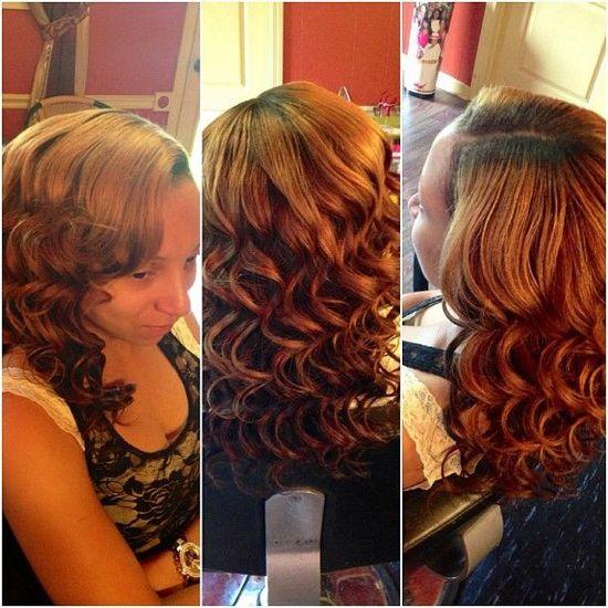Women's hair style....curls