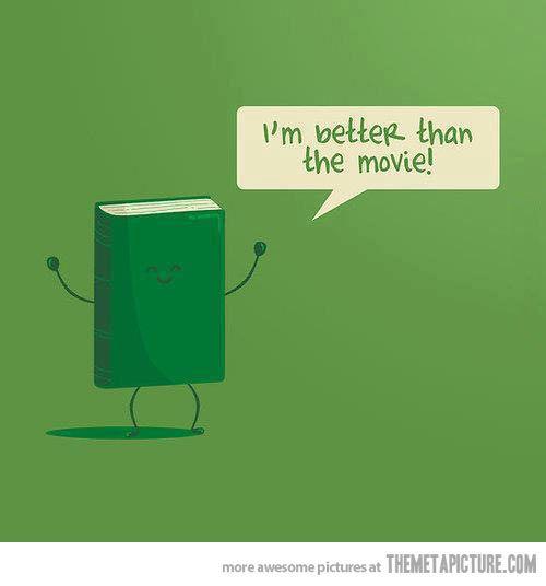 You're always better, book. Always.