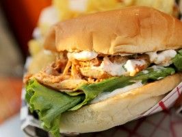 Buffalo Chicken Sandwich : Recipes : Cooking Channel
