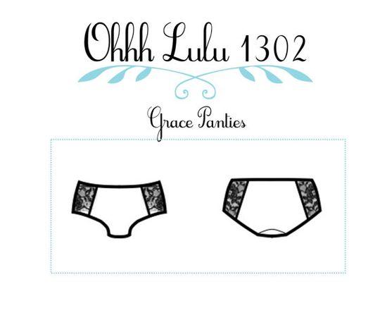 Lingerie Panties Sewing Pattern Ohhh Lulu 1302 Grace Hipster Panties