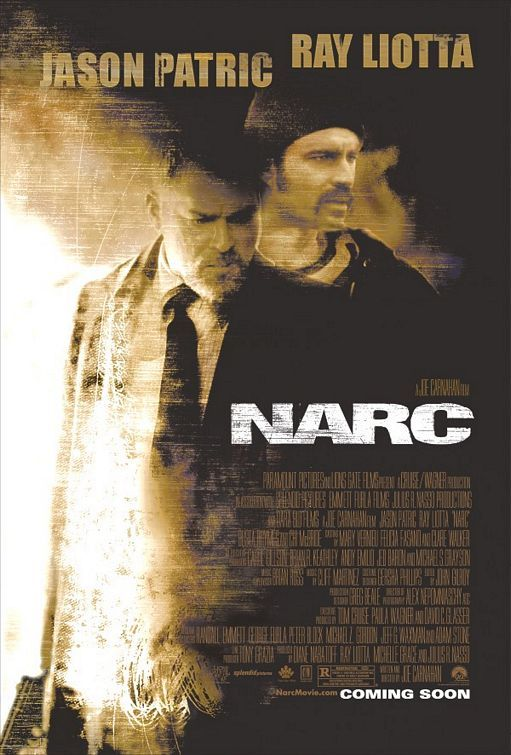 Narc , starring Ray Liotta, Jason Patric, Chi McBride, Dan Leis. When the trail goes cold on a murder investigation of a policeman an undercover narcotics officer is lured back to the force to help solve the case. #Crime #Drama #Thriller