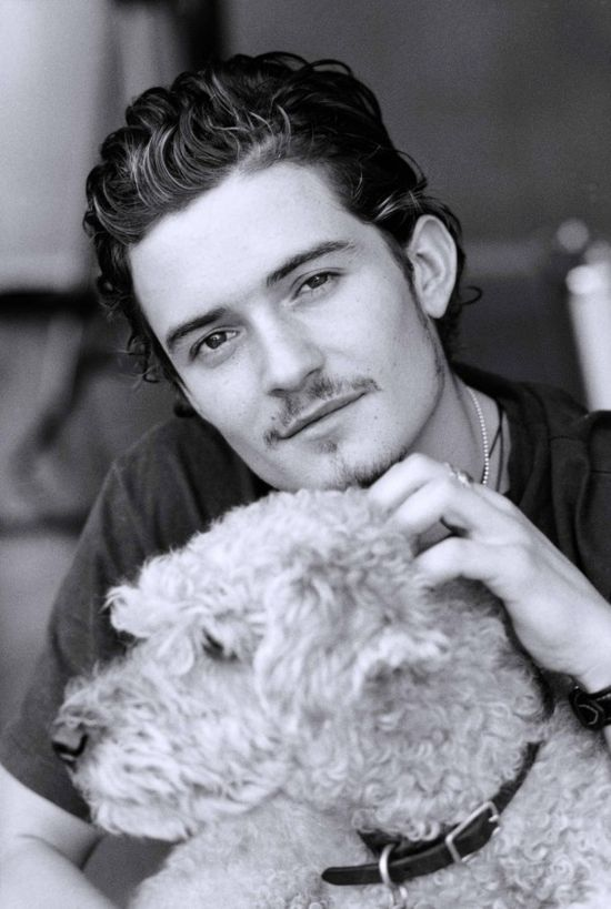 Orlando Bloom + dog #celebrities #dogs