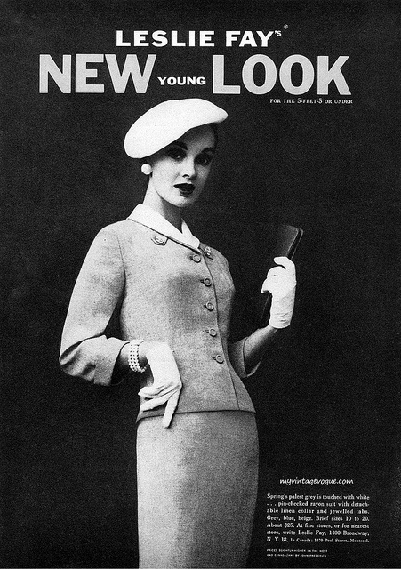 Leslie Fay's New Young Look, 1957. #vintage #1950s #fashion