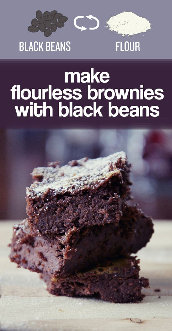 You can bake high-protein, gluten-free brownies with black bean puree instead of flour