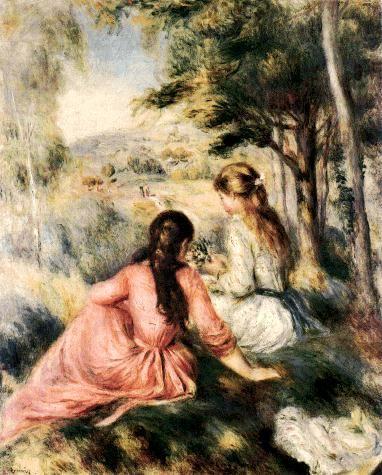 Pierre-Auguste Renoir, dans la prairie, 1890, impressionnisme (Metropolitan Museum of Art à New York) #fluidity