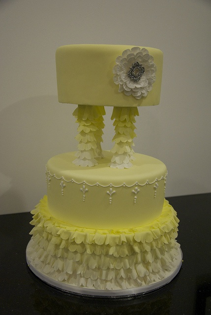 yellow wedding cake by www.fortheloveofc..., via Flickr