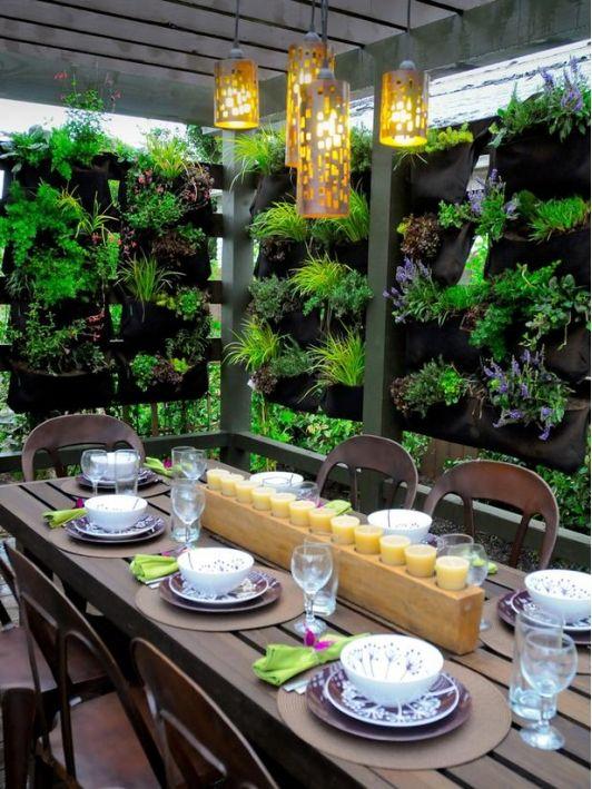 High End Outdoor Dining - Home and Garden Design Ideas