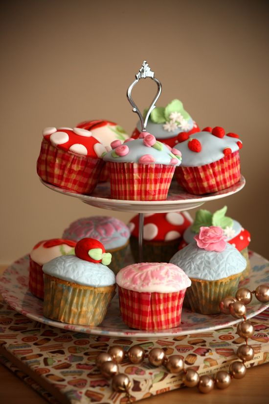 Cath Kidston inspired #cupcakes