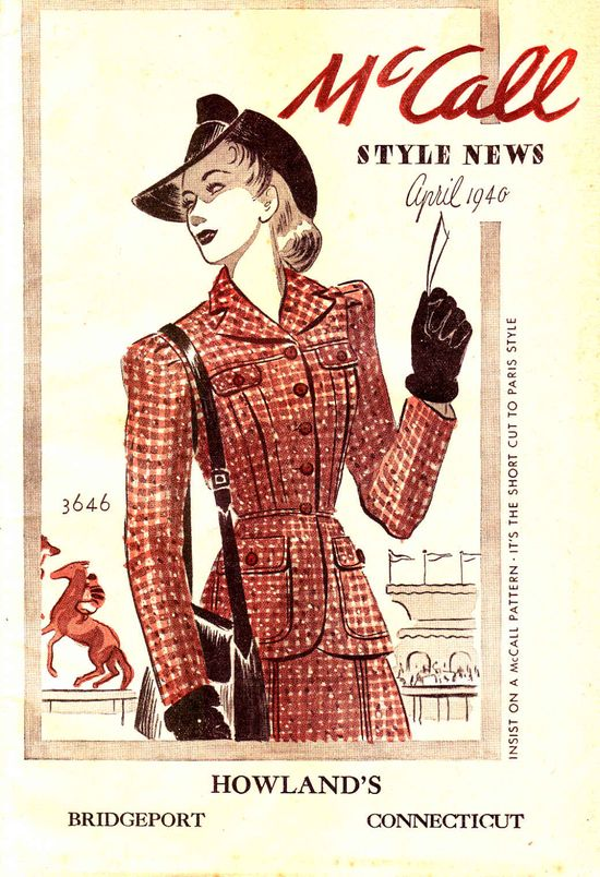 The silhouette of the (earlier years of) the 1940s emerges. #vintage #1940s #fashion