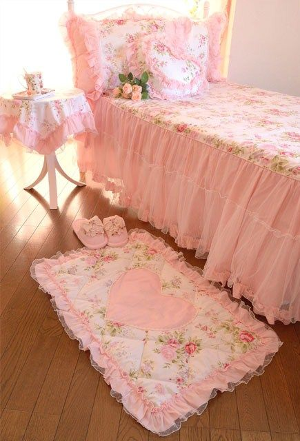 pink bedroom ~ love this