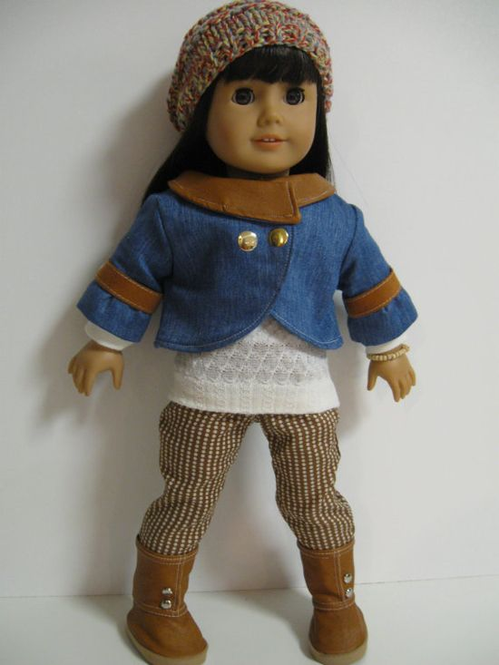 American Girl Doll Ready for Fall by 123MULBERRYSTREET on Etsy, $40.00