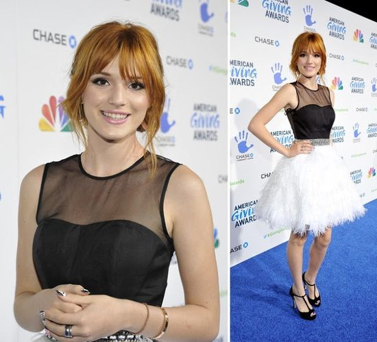 Celebrities in Sherri Hill, Bella Thorne