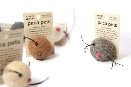 Paca Pet with Whiskers 3 pk. 3 colors Natural by gopetdesign