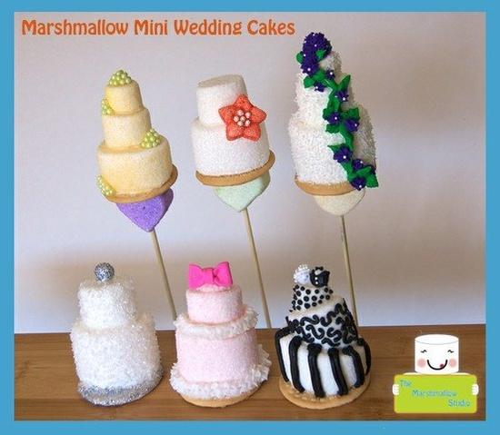 Marshmallow Mini Wedding Cakes