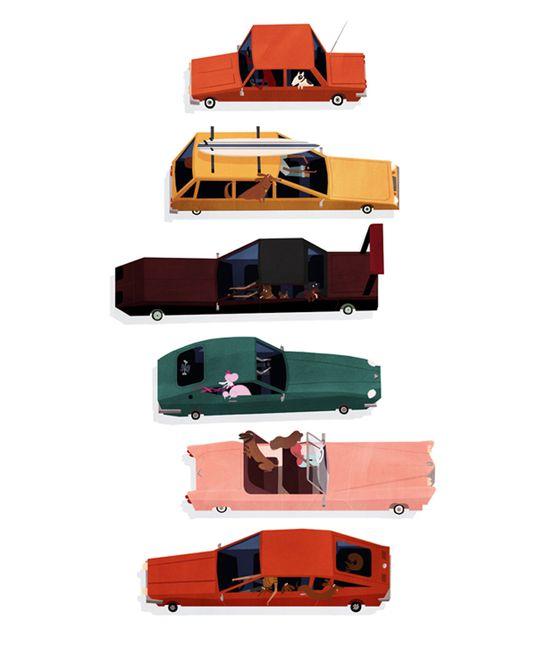 Emmanuelle Walker Celebrates 'Dogs and Cars' With a Fantastic Illustration