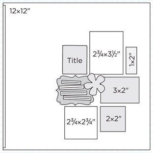 Scrapbook Page Sketch 401