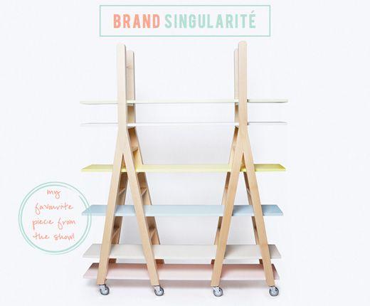 Pastel shelving storage unit by Singularite