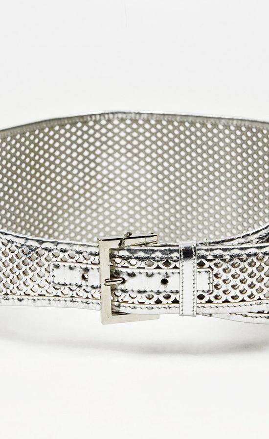 Fendi Metallic Silver Belt