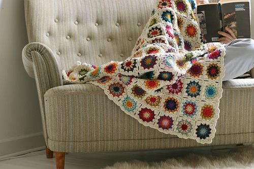 crochet blanket ~ Sandra Juto
