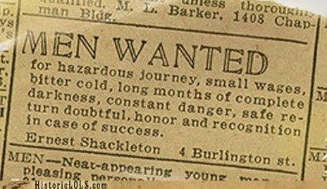 Ernest Shackleton, polar explorer.