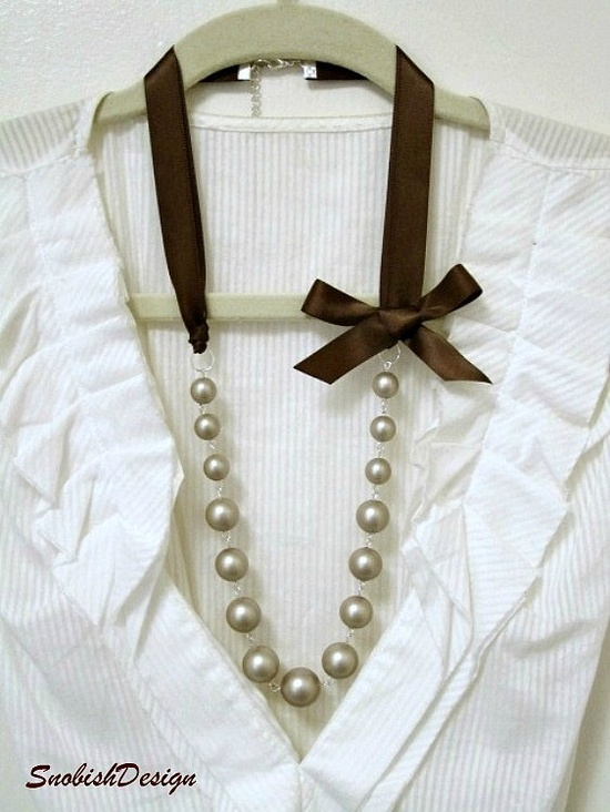 ribbon with pearls, can't go wrong