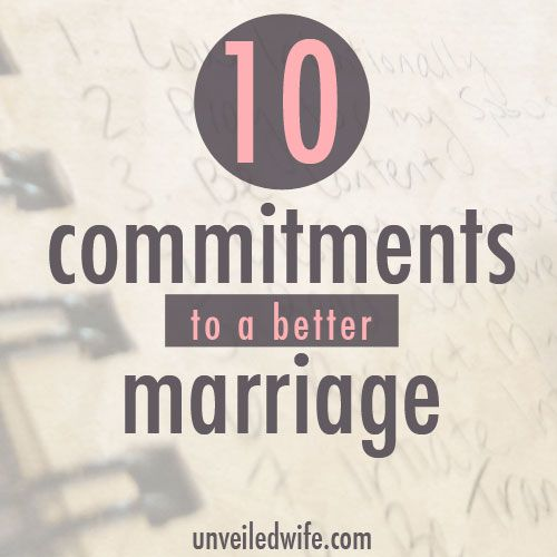 10 Commitments To A Better Marriage & Link-Up Party by @unveiledwife