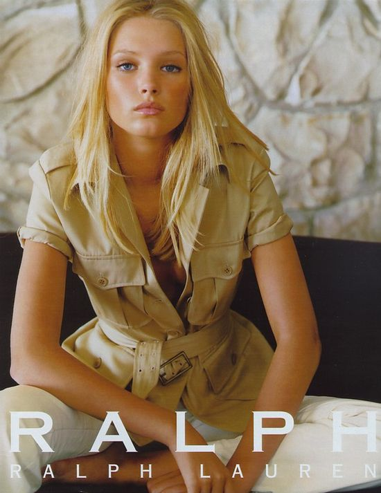 80s-90s-supermodels:    Ralph Lauren, circa late 90sModel : Sharon Van Der Knaap