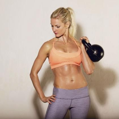 Drop the dumbbells & become best friends with a kettlebell. Since your stabilizer muscles have to work harder, you burn more calories (almost 300 in 20 minutes!).