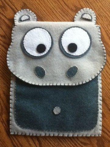 Felt Hippo iPad Case