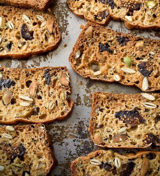 Healthy Breakfast - seeded rosemary fig cracker