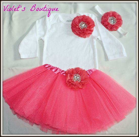baby girl tutu and onesie set....baby girl by organicheadbands, $35.99