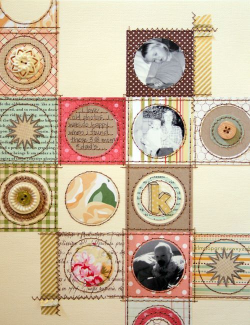 #papercraft #scrapbook #layout Quilt Blocks Page