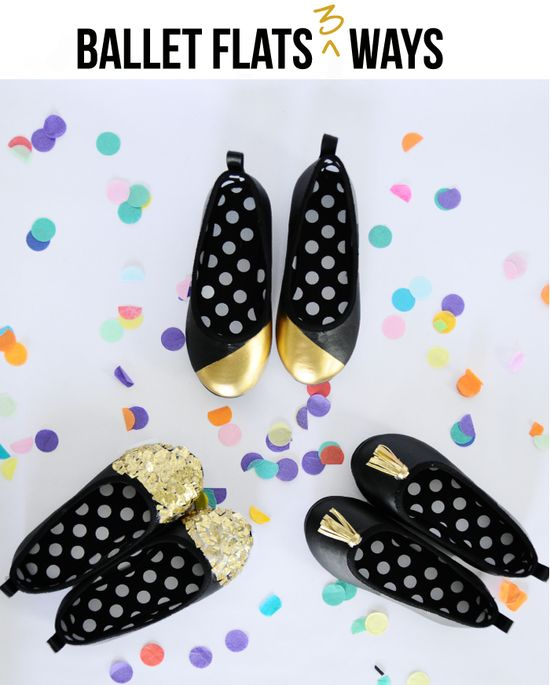 DIY Fashion Flats- love the top ones