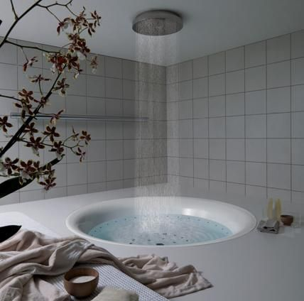 Rain shower bathtub