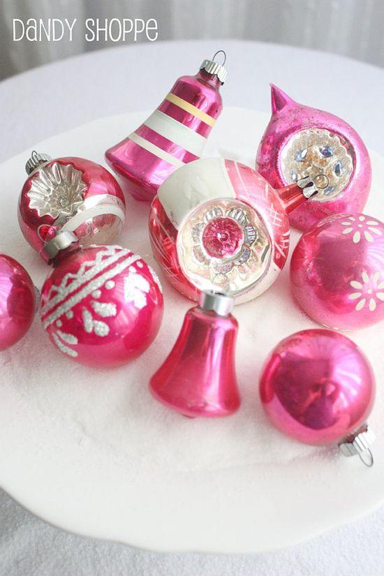 Vintage Pink Ornaments