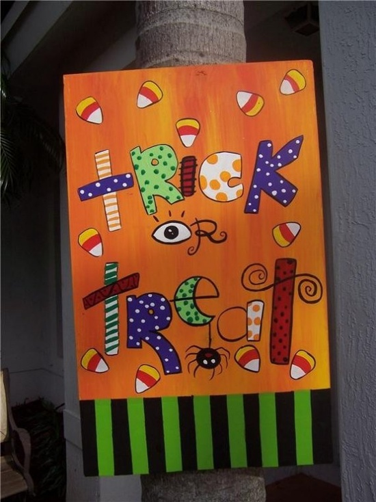 Trick or Treat Halloween painting..too cute