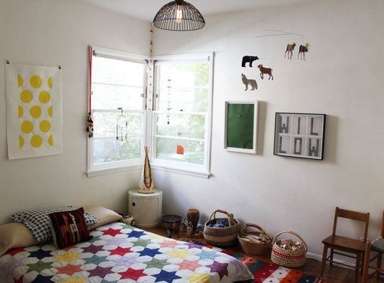 Lovely kids room with a bohemian feel @Apartment Therapy Family
