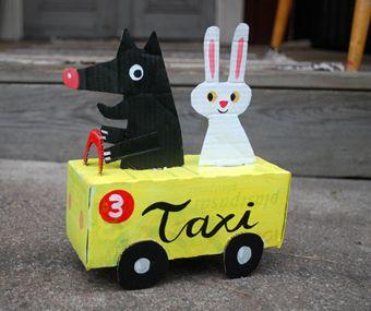 Cardboard Friends by ingelaparrhenius #Toys #DIY