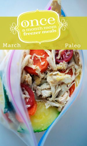 Paleo March 2013 Freezer Menu