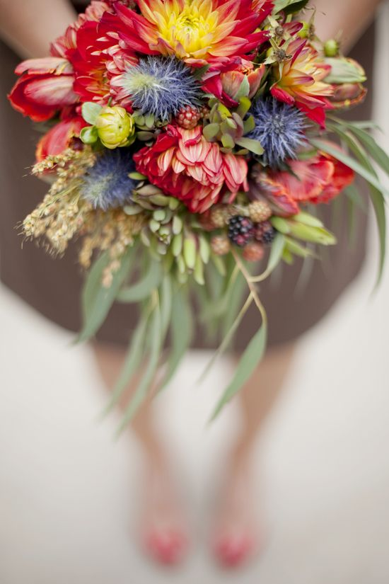 Fall Flower Trend: Big Blooms // Olive Juice Studios // From: 7 Hot Fall Wedding Trends to Steal Right Now // blog.theknot.com/...
