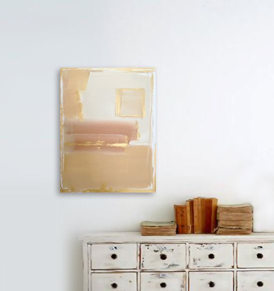 AFTERGLOW #metallic #gold #modern #painting #art #interiordesign