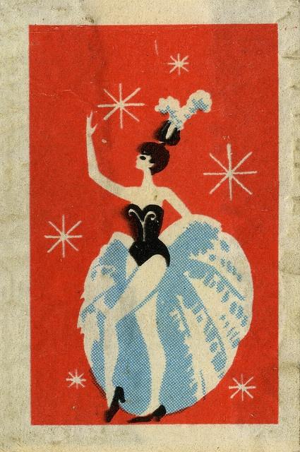 Showgirl Vintage matchbox